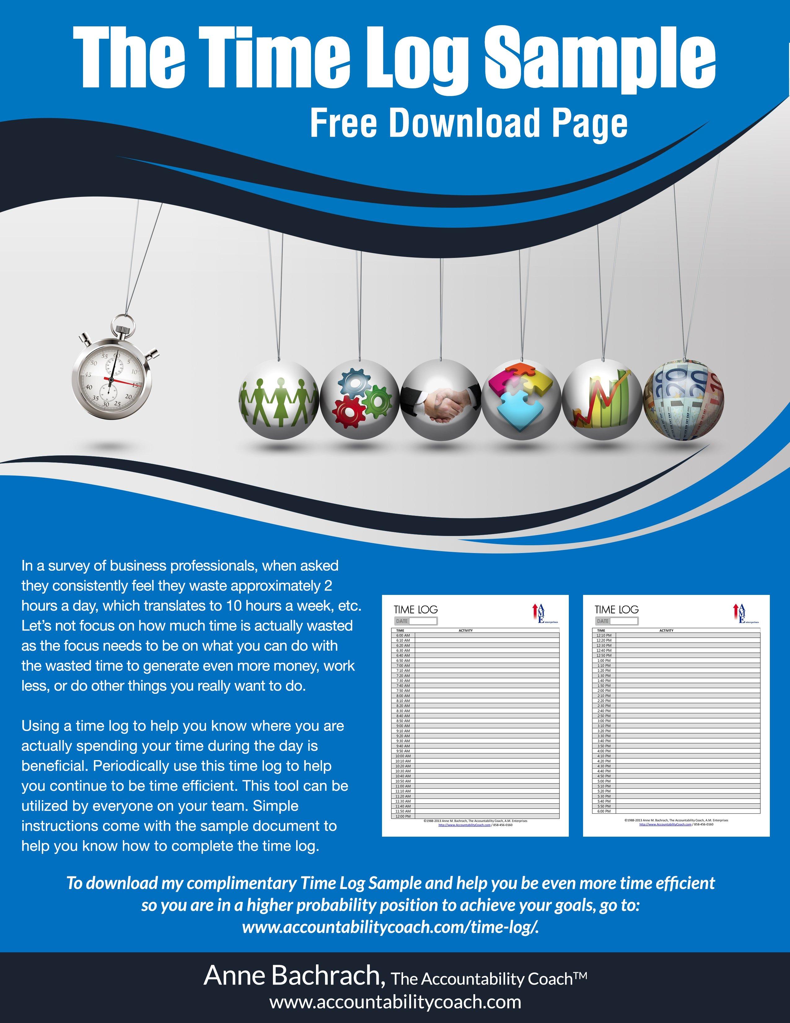 InfoGraphic TimeLog Download Sample